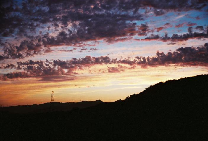 red and orange clouds - Santa Paula, CA