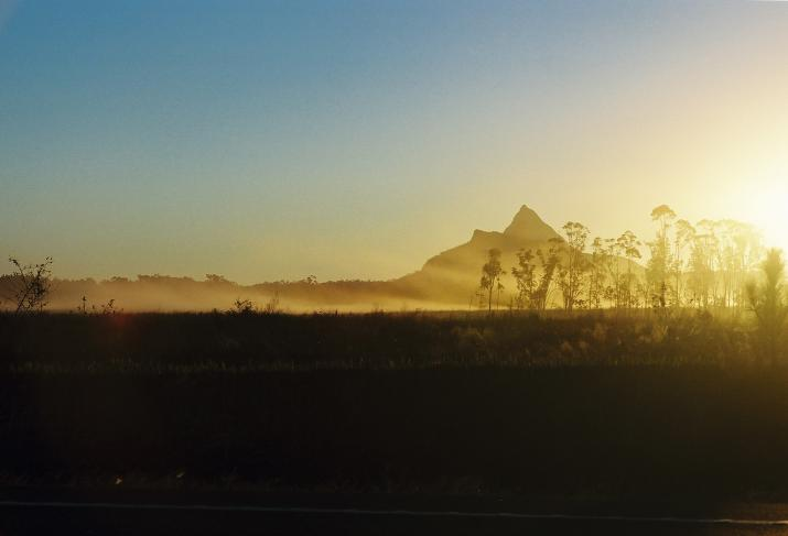 Pretty sunset in Queensland - Glass House Mountains, Australia