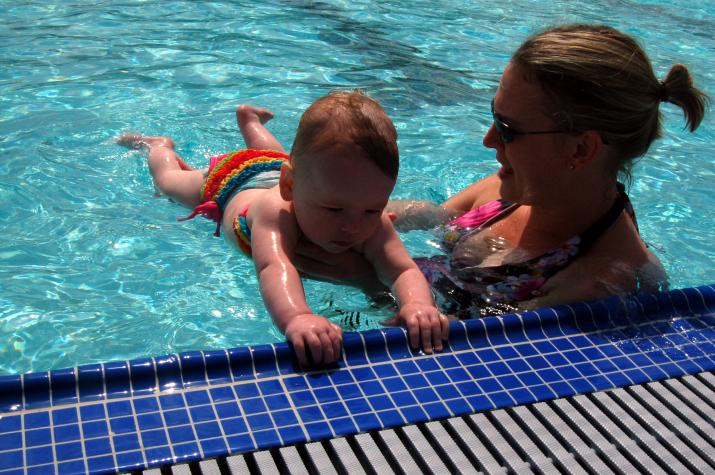 Mommy is teaching me to swim, just like she's taught so many other kids in the past! - Ventura, CA